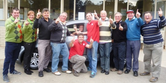 Peter Kelly wins a Holden through hole in one insurance